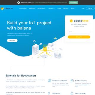 balena - The complete IoT fleet management platform