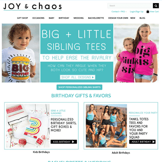 Personalized Gifts for Baby, Kids and Family + Custom Party Favors for all Occasions by Joy & Chaos