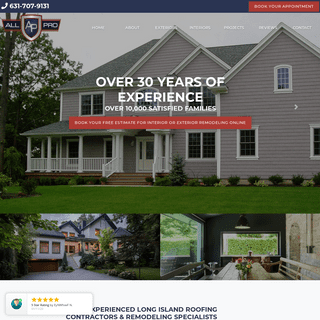 Your Long Island Roofing Contractor, Replacement Windows and Siding Contractor - All Pro Remodeling Corporation