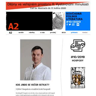 A2 – neklid na kulturní frontě