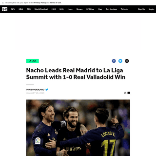 Nacho Leads Real Madrid to La Liga Summit with 1-0 Real Valladolid Win - Bleacher Report - Latest News, Videos and Highlights