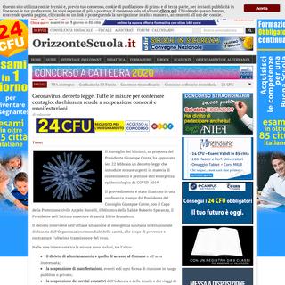 Coronavirus, decreto legge. Tutte le misure per contenere contagio- da chiusura scuole a sospensione concorsi e manifestazioni