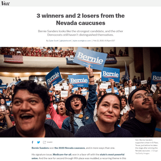 Nevada caucus results- 3 winners and 2 losers - Vox