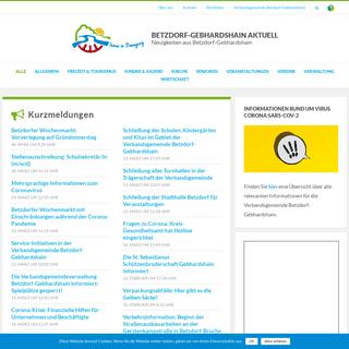 Betzdorf-Gebhardshain Aktuell - Neuigkeiten aus Betzdorf-Gebhardshain
