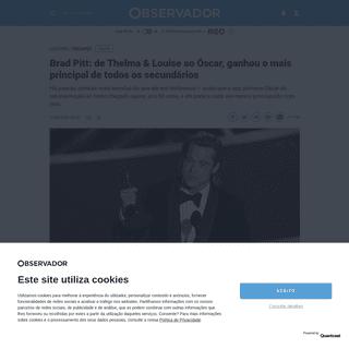 Brad Pitt- de Thelma & Louise ao Óscar, ganhou o mais principal de todos os secundários – Observador