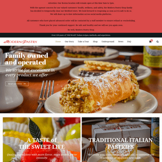 Modern Pastry – Family Owned and Operated Italian Bakery