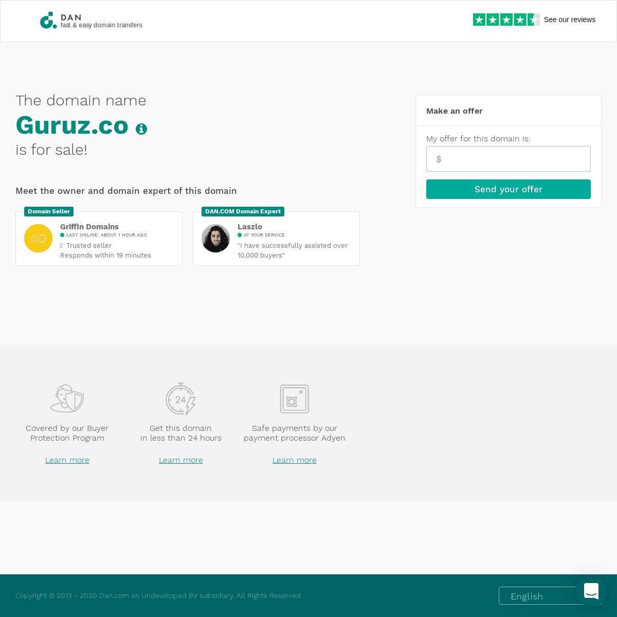 The domain name Guruz.co is for sale