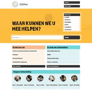 GGNet - specialist voor mensen met psychische problemen en hun naasten - GGNet