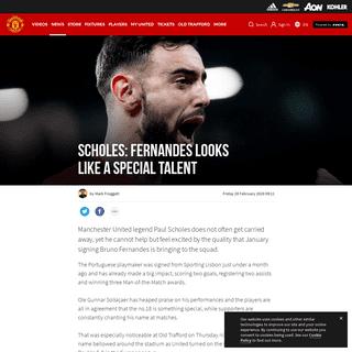 Man Utd legend Paul Scholes praises Bruno Fernandes impact on club - Manchester United