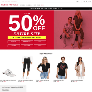 GUESS Factory - Jeans, Clothing & Accessories for Women, Men & Kids