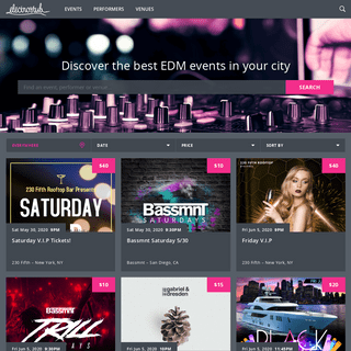 ElectroStub - Discover the best EDM events in your city