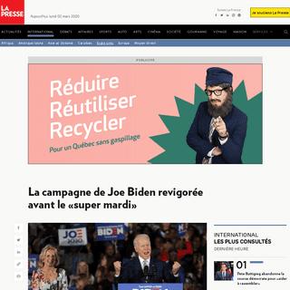 ArchiveBay.com - www.lapresse.ca/international/etats-unis/202003/01/01-5262954-la-campagne-de-joe-biden-revigoree-avant-le-super-mardi.php - La campagne de Joe Biden revigorée avant le «super mardi»