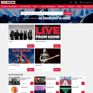 Bilety na koncerty oraz trasy koncertowe - Live Nation Polska