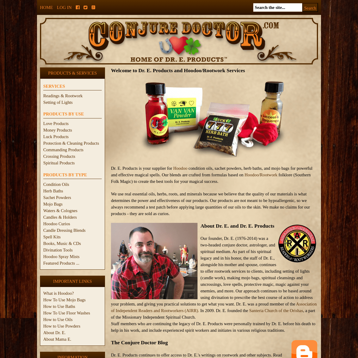 ConjureDoctor.com - Home of Dr. E. Hoodoo Products and Magical Services, Get What You Want!