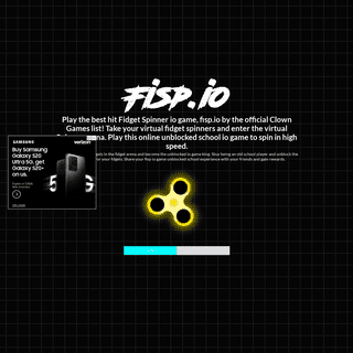 Fisp.io - unblocked Fidget spinner io game by Clown Games