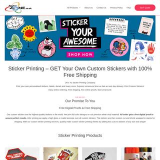 Custom Sticker Printing - Custom Labels UK - Custom Stickers UK - StickerZone