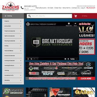 Zanders Sporting Goods Catalog