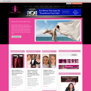 Fabafterfifty- Redefining 50, best website and forum for women over 50