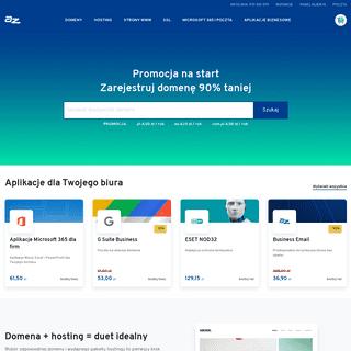 AZ.pl – Hosting WWW, Domeny, Kreator stron, Sklepy, VPS, SSL
