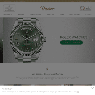 Luxury Wristwatches and Jewellery - Leeds - Wilmslow - Guildford - Prestons