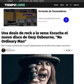 Una dosis de rock a la vena- Escucha el nuevo disco de Ozzy Osbourne, -No Ordinary Man- - RedGol