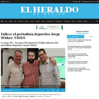 Fallece el periodista deportivo Jorge Witker- VIDEO