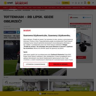 LM- Tottenham - RB Lipsk. O której godzinie- Transmisja w tv online live stream - Liga Mistrzów