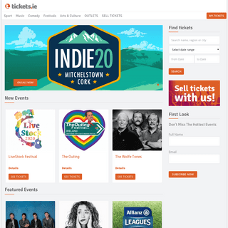 Tickets.ie – Tickets for music sport and all events