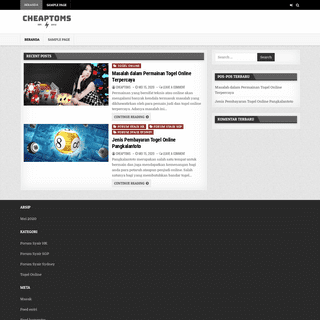 Syair HK Forum & Syair SGP Forum - Cheaptoms