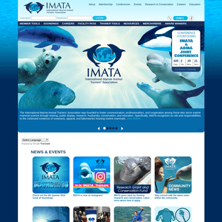 Home - IMATA - International Marine Animal Trainer's Association