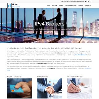 IPv4 Brokers - Buy & Sell IPv4 - ARIN, RIPE, APNIC