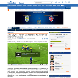 ArchiveBay.com - sport.trojmiasto.pl/ARKA-Gdynia-Rakow-Czestochowa-3-2-n142342.html - Arka Gdynia - Raków Częstochowa 3-2. Piłkarskie zmartwychwstanie