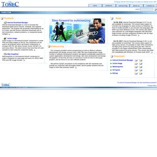 Tonec Home, Offshore Software Development, Custom Programming, Web Design