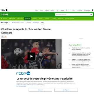 ArchiveBay.com - www.rtbf.be/sport/football/belgique/jupilerproleague/detail_charleroi-standard-un-choc-wallon-avec-le-podium-en-toile-de-fond-live-commente?id=10442771 - Charleroi remporte le choc wallon face au Standard