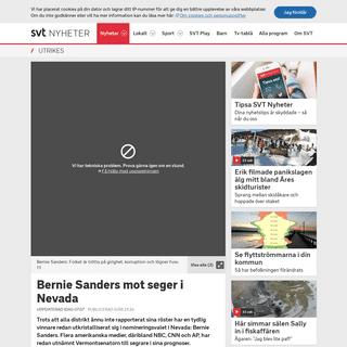 ArchiveBay.com - www.svt.se/nyheter/utrikes/sanders-i-ledning-i-nevada - Bernie Sanders mot seger i Nevada - SVT Nyheter