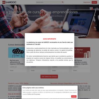 UniMOOC - La plataforma de cursos para emprendedores