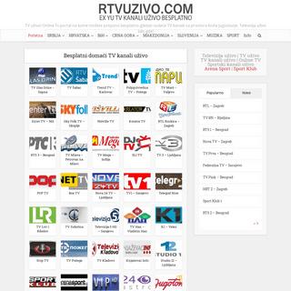 RTVUZIVO.COM - TV kanali uživo - Internet Televizija uživo