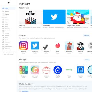 Appscope - Progressive Web Apps Examples