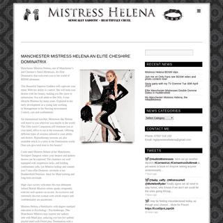 Mistress Helena, Manchesters Elite Mistresses, a sensual Dominatrix