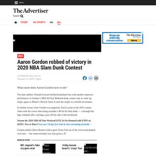NBA 2020- Aaron Gordon and Derrick Jones Jr in Slam Sunk Contest, highway robbery - Adelaide Now