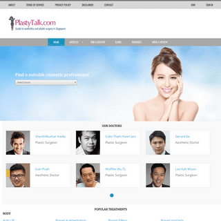 PlastyTalk - Guide to Aesthetics and Plastic Surgery in Singapore