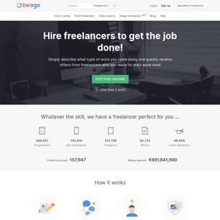 Freelancer! Find programmers, designers & more - twago