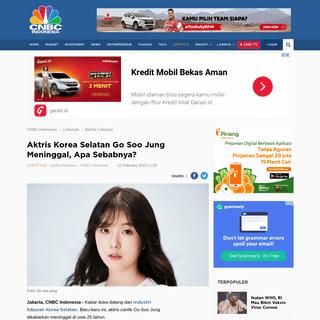 Aktris Korea Selatan Go Soo Jung Meninggal, Apa Sebabnya-