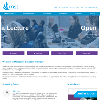 Melbourne School of Theology – Bible and Mission