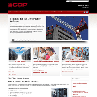 Construction and Project Management Software, Solutions, Training - CDP, Inc.