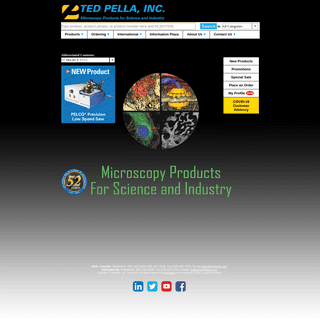 Electron Microscopy, Light Microscopy, Instruments and Supplies, Ted Pella, Inc.