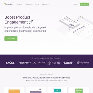 User Onboarding & Product Adoption for Web Apps - Chameleon