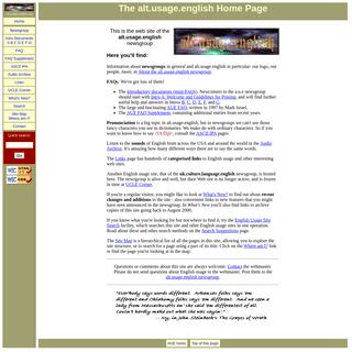 AUE- The alt.usage.english Home Page