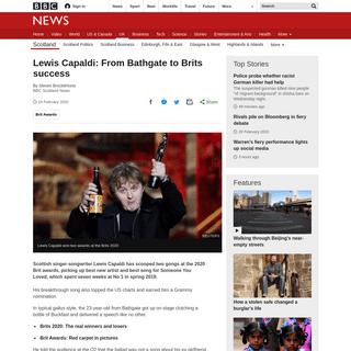 ArchiveBay.com - www.bbc.com/news/uk-scotland-51558870 - Lewis Capaldi- From Bathgate to Brits success - BBC News