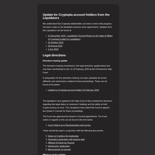 Cryptopia - Maintenance